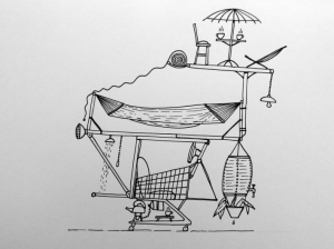 Rainer Prohaska, Shopping Cart Motor Home, 2016, projekt instalacji, © R. Prohaska